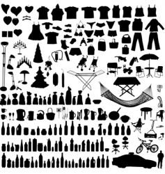 Household items set vector
