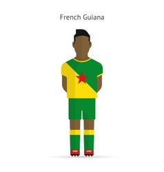 French guiana football player soccer uniform vector