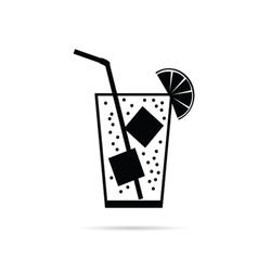 Drinking glass icon vector