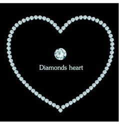 Diamond heart frame composition vector