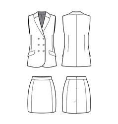 Womens vest and skirt vector
