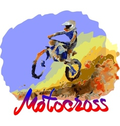 Watercolor motocross vector