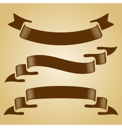 Set of retro ribbons vector