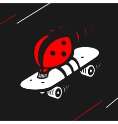 Symbol ladybug speed skating vector