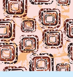 Abstract pattern with squares on a beige vector