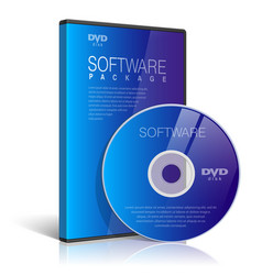 Realistic case for dvd or cd disk vector