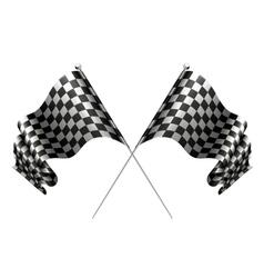 Crossed flags vector