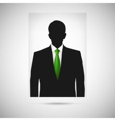 Profile picture whith green tie unknown person vector