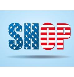 Typography internet logo usa shop vector