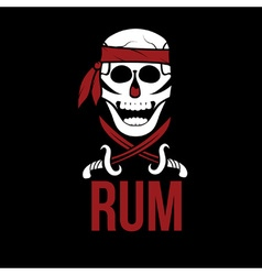Jolly roger rum vector