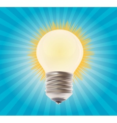 White lamp on the background vector