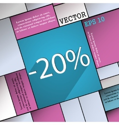 20 percent discount icon symbol flat modern web vector