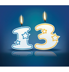 Birthday candle number 13 vector