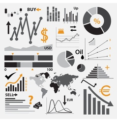 Various graphs for your business or stock market vector