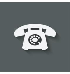 Retro phone symbol vector