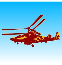 Russian helicopter ka-52 alligator vector