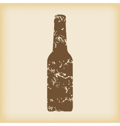 Grungy bottle icon vector