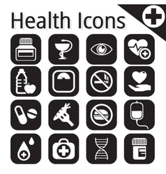 White medical icon vector