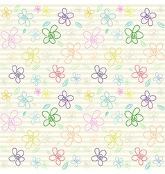 Flower pattern color 03 vector