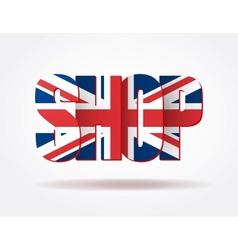 Typography internet logo british shop vector