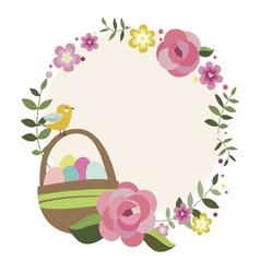 Spring easter frame vector