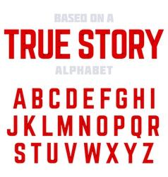 Modern alphabet vector
