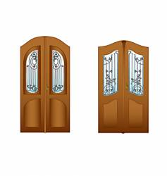 Lattice doors vector
