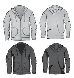Hoodie sweatshirt template vector