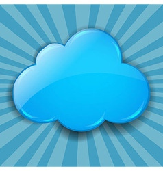 Retro burst background with cloud vector