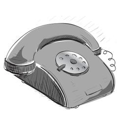 Vintage phone vector
