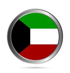Kuwait flag button vector
