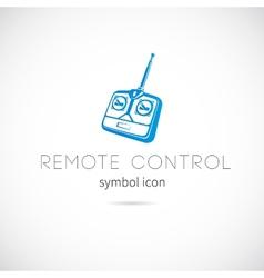 Remote control silhouette symbol icon or label vector