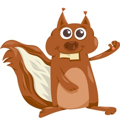 Squirrel with nut cartoon vector