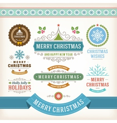 Christmas decoration design elements vector
