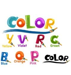 Alphabet color vector