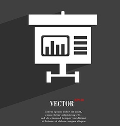 Graph icon symbol flat modern web design with long vector