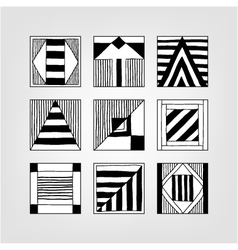Set of abstract forms vector