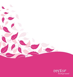 Abstract pink leaf vector