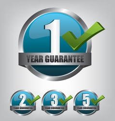 Guarantee label button set vector