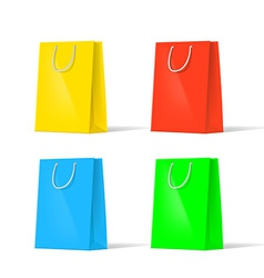 Set of multi-colored bags vector