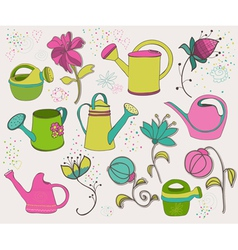 Spring design elements vector