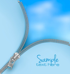 Zipper sky backgorund vector