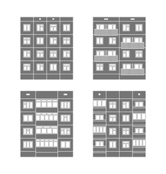 Panel houses set1 vector