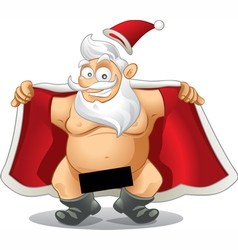 Crazy santa - cartoon vector