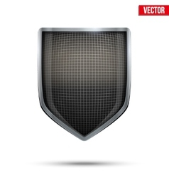 Bright shield in the fencing helmet inside vector