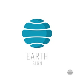 Earth logo template globe sign vector