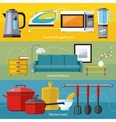 Household appliance furniture cooking serve meal vector