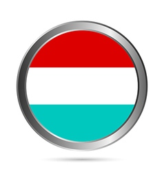 Luxembourg flag button vector