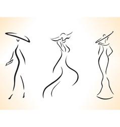 Symbolic stylized woman vector