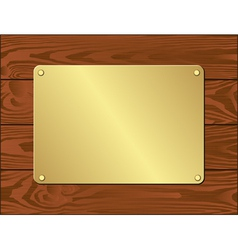 Goldenl plate vector